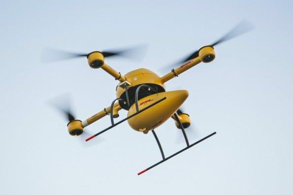 Die Paket-Drohne namens Paketkopter nimmt Ende der Woche den regulären Flugbetrieb auf. (Bild: DHL Paket)