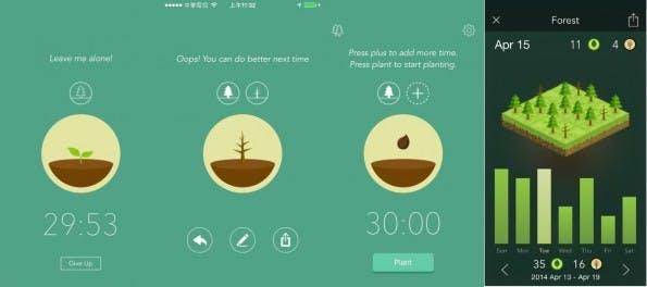 Forest soll euch dazu motivieren, weniger oft auf euer Smartphone zu schauen. (Screenshots: Forest)