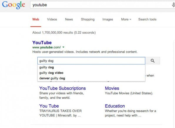 Google lässt euch eure eigene Suchmaschine mittels Schema.org-Markup in die Suchergebnisse integrieren. (Screenshot: Google)