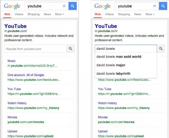Suche in den Suchergebnissen: So stellt sich das Ganze auf mobilen Endgeräten dar. (Screenshot: Google)