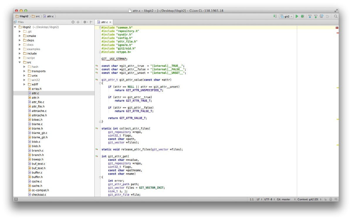 Jetbrains CLion läuft auf OS X, Windows und Linux. (Screenshot: CLion)