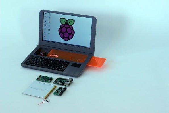 Pi-Top: Über die Öffnung kommt ihr direkt an die Hardware heran. (Foto: Pi-Top)