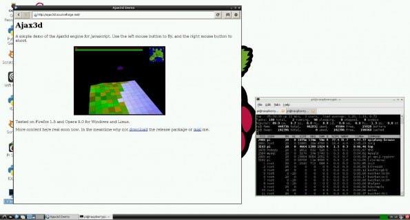 Raspberry Pi: Der Browser bietet unter anderem HTML5-Video-Beschleunigung. (Screenshot: Raspberry Pi)