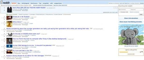 Die Reddit-Startseite. (Screenshot: Reddit)
