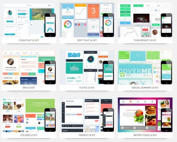 Neben vielen Responsive-Webdesign-Temples gibt es bei w3layouts.com auch einige UI-Kits.