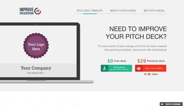 Kostenlose (oder kostenpflichtige) Templates für den Startup-Pitch bietet Improve Presentation an. Wer es schick mag, kommt auf seine Kosten. (Screenshot: t3n)