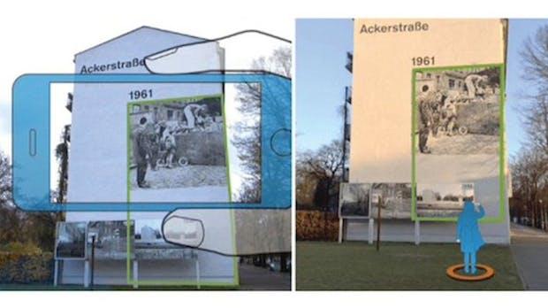 Augmented Reality: Timetraveler-App macht Berliner Mauer-Geschichte erlebbar