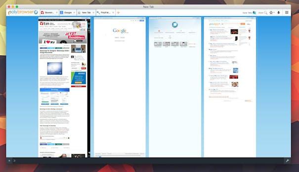 Polyamorie für den Browser: Mehrere Websites in einem Fenster mit Polybrowser