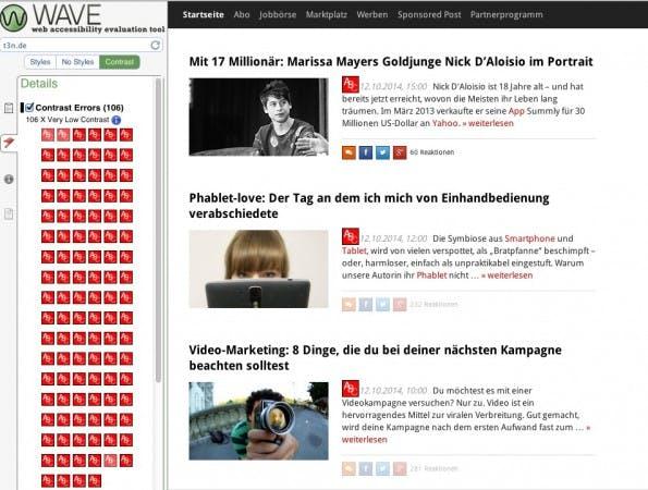 (Screenshot: Webaim.org)