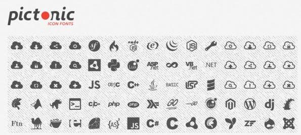 Nicht annähernd so viele kostenlose Icons wie Fontello oder IconFont: Der Font-Generator Pictonic. (Screenshot: Pictonic)