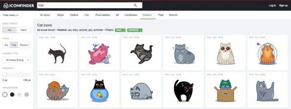 Nicht nur, aber auch kostenlose Icons finden sich auf iconfinder.com. (Screenshot: Iconfinder)