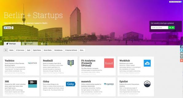 Startups in Berlin (Screenshot: Startups-List.com)