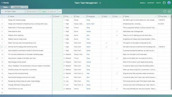 Airtable soll dann zum Einsatz kommen, wenn Google Spreadsheets an ihre Grenzen stoßen. (Screenshot: Airtable)