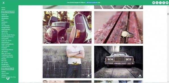Allthefreestock als Aggregator für Stockfotos: Hier am Beispiel von Bildern der Website gratisography.com (Screenshot: allthefreestock.com)