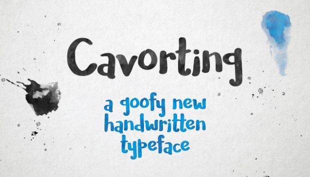 Cavorting: Auch diesen handgeschriebenen Font könnt ihr kostenfrei in kommerziellen Projekten einsetzen. (Grafik: Missy Meyer)
