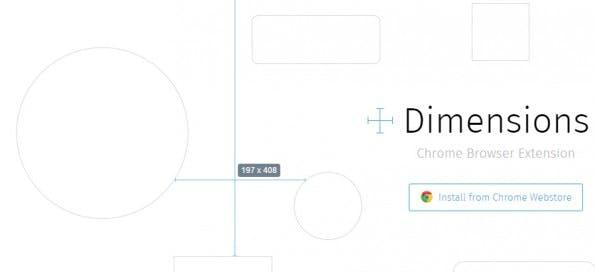 Wie auf der Website des Entwicklers deutlich wird, macht die Chrome-Extension Dimensions auch vor kurvigen Elementen nicht Halt. (Screenshot: felixniklas.com/dimensions).