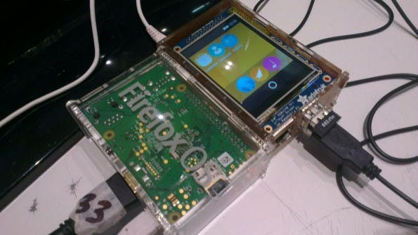 Firefox OS auf dem Raspberry Pi. (Foto: Richard King)