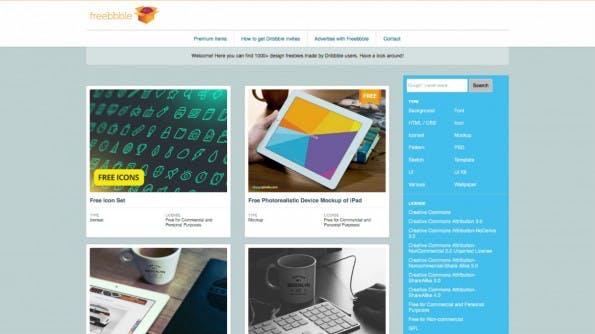 Freebbble bietet über 1.000 kostenlose Design-Vorlagen. (Screenshot: t3n)