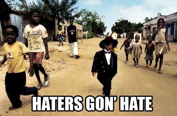 """""""Haters Gon' Hate"""", dachte sich Kevin Mcalear – und entwickelte Hater News. (Bild: kevinmcalear.com)"""