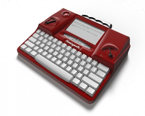 Hemingwrite setzt auf Cloud-Backup und E-Ink-Display. (Foto: Hemingwrite)