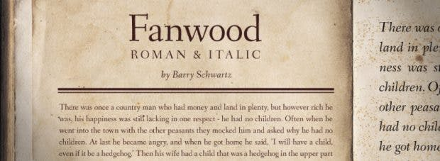 Fanwood orientiert sich an der Arbeit des bekannten Typografen Rudolph Ruzicka. (Grafik: Barry Schwartz)