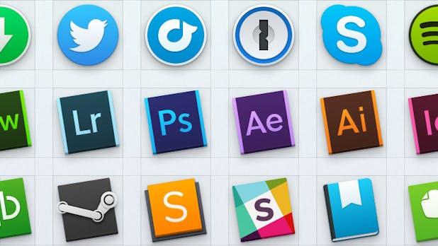 Yosemite-Look für alle Apps: 40 kostenlose Icons für euer Dock