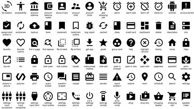 Material Design: Google veröffentlicht 750 kostenfreie SVG-Icons