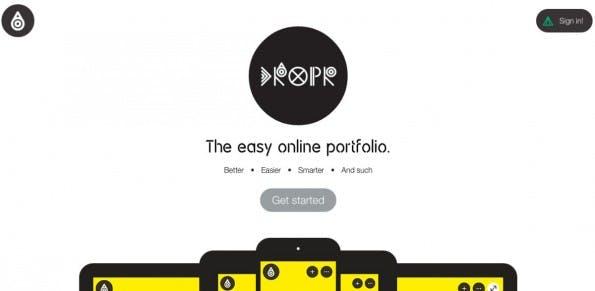 Portfolio-Webseiten: Dropr. (Screenshot: Home)