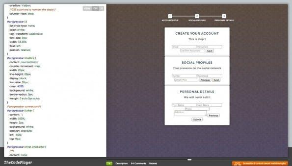 Web-Entwicklung im Zeitraffer: Bei theCodePlayer schaut ihr Entwicklern über die Schulter. (Screenshot: theCodePlayer)