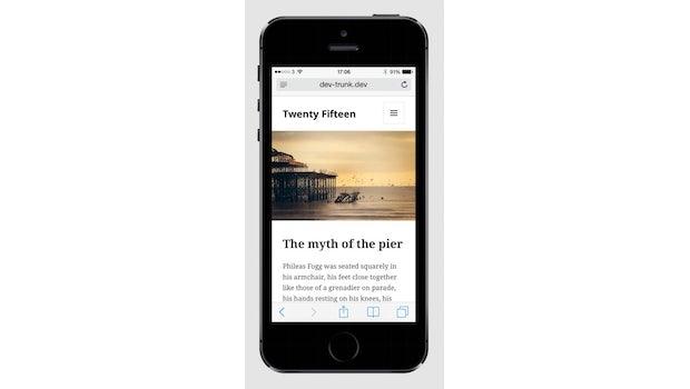Twenty Fifteen ist mobile-first umgesetzt. (Screenshot: WordPress-Make-Blog)