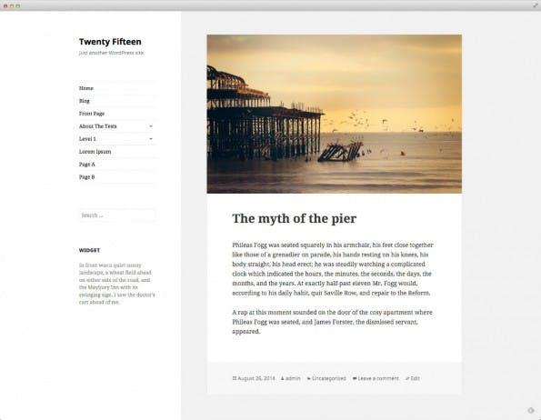 Twenty Fifteen, das neue Standard-Theme von WordPress. (Screenshot: WordPress-Make-Blog)