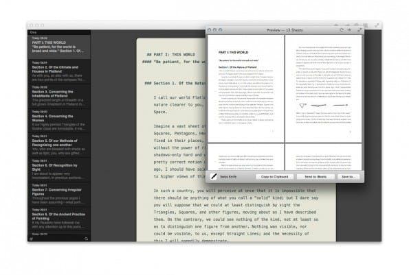 Ulysses III: Ihr könnt auch auf Templates zurückgreifen, um das Layout eurer exportierten Dokumente festzulegen. (Screenshot: Ulysses III)