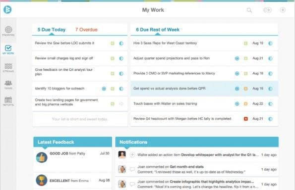 Workboard will die Team-Organisation effizienter machen. (Screenshot: Workboard)