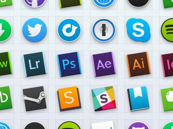 Icons für OS X Yosemite: So passen sich auch Drittanbieter-Apps an den neuen Look an. (Grafik: Jeremy Goldberg)