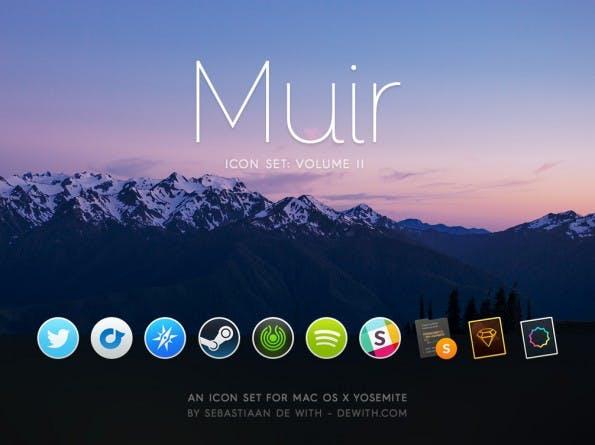 Muir: Ein weiteres Icon-Set für Yosemite-Nutzer. (Grafik: Sebastiaan de With)