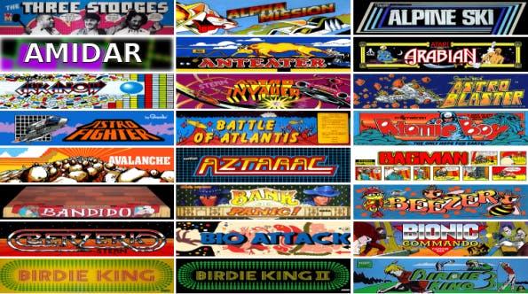 Arcade-Games: Auswahl der Spiele beim Internet Archive (Screenshot: archive.org)