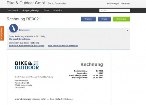 ce366a194bf168 Online Rechnung: Lexoffice von Haufe Lexware ist eine Weiterentwicklung von  lexlive. (Screenshot: lexoffice.de)