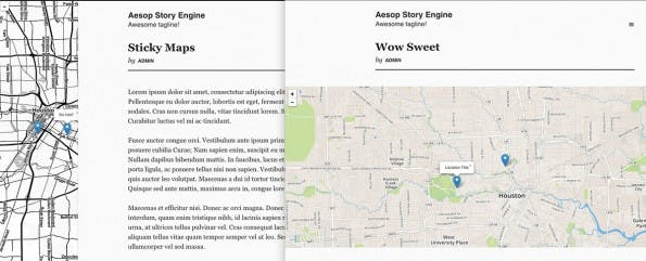 Aesop-Story-Engine: Die WordPress-Erweiterung erlaubt die Erstellung von multimedialen Scrollytelling-Artikeln. (Screenshot: Aesop-Story-Engine)