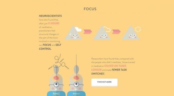 Via Meditation will die App Headspace zu mehr Konzentration und Kreativität verhelfen. (Screenshot: Headspace)