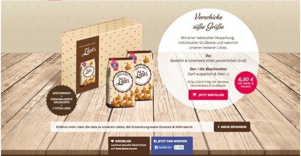 Wer die Likies nicht in der vorgefertigten Geschenkbox kaufen will, muss direkt über den Hans-Freitag-Onlineshop gehen. (Screenshot: www.likies.com)