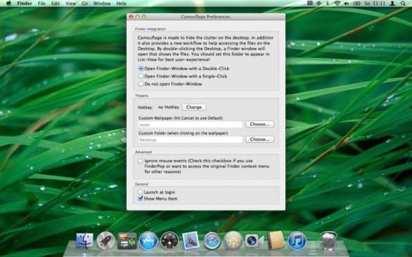 Camouflage ist eine gute Alternative zu Desktop Curtain. (Screenshot: Camouflage)