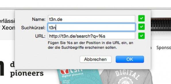 Chrome: Das Suchkürzel sollte möglichst kurz aber prägnant sein. (Screenshot: Chrome)