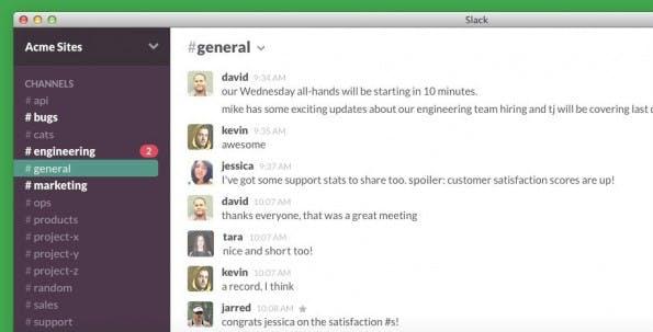 Slack wurde in erster Linie für Unternehmen konzipiert und bietet neben  Messaging im Skype-Stil auch noch einige zusätzliche Features. (Screenshot: Slack)