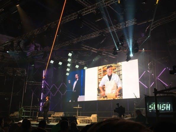 Customer-Service-Profi Mikkel Svane auf dem Slush-Festival. (Foto: t3n)