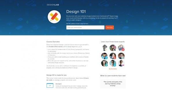 """So beispielsweise sieht der Kurs """"Design 101"""" aus. (Screenshot: Designlab)"""