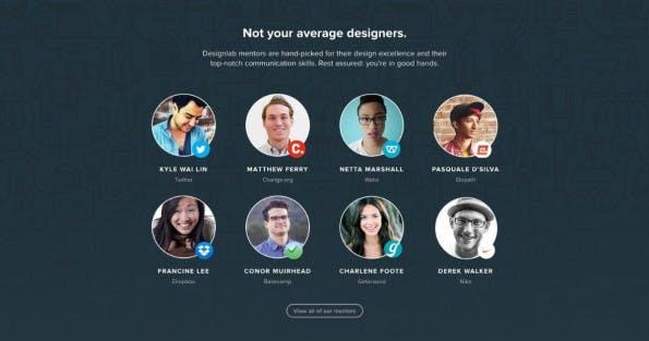 Design-Kurse mit prominenten Mentoren – darauf setzt Designlab. (Screenshot: Designlab)