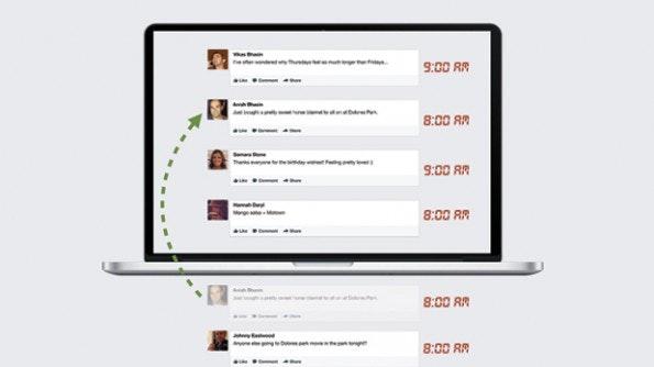 Auch ältere Storys tauchen regelmäßig im Newsfeed der Nutzer auf, wenn der Facebook-Algorithmus sie noch für relevant erachtet. (Grafik: Facebook)
