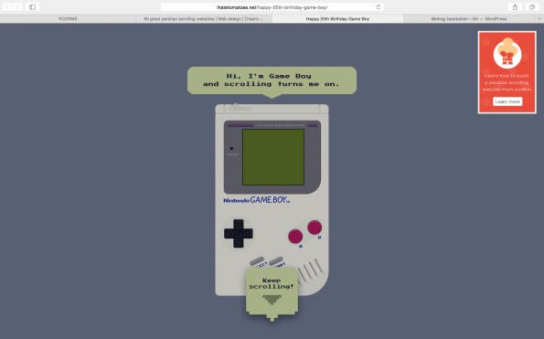 Parallax Gameboy