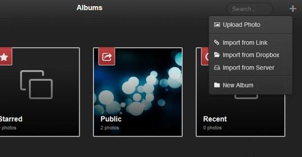 Fotos können auch auf verschiedenen Wegen importiert werden. (Screenshot: Lychee)