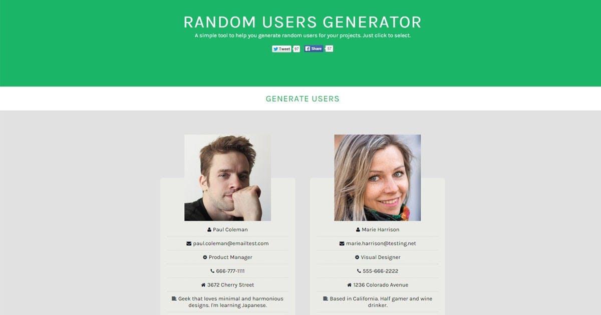 Personas mit einem Klick erstellen: Der Random Users Generator